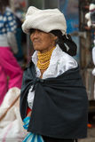Woman from the Mestizo ethnic group in Otavalo, Ecuador Stock Image