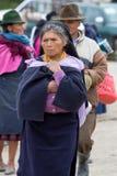 Woman from the Mestizo ethnic group in Otavalo, Ecuador Royalty Free Stock Photos