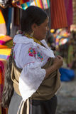 Woman from the Mestizo ethnic group in Otavalo, Ecuador Stock Images