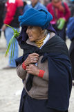 Woman from the Mestizo ethnic group in Otavalo, Ecuador Royalty Free Stock Photo