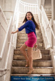 Woman in Metro Staircase Royalty Free Stock Images