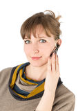 Woman microphone Royalty Free Stock Photography