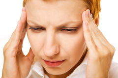 Woman with migraine Stock Photos