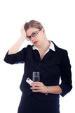 Woman migraine Stock Photography