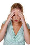 Woman with migraine stock images