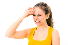 woman with migraine Stock Image