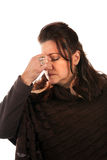 Woman with a Migraine Headache Stock Photo