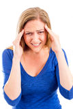 Woman with migraine Royalty Free Stock Photo