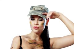 Woman in military Royalty Free Stock Photos