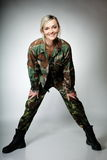 Woman in military clothes, army girl Stock Photography