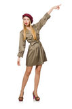 Woman in military clothing isolated Royalty Free Stock Image