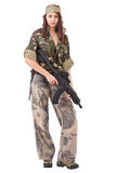 Woman in military uniform Royalty Free Stock Photo