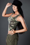 woman in military uniform Royalty Free Stock Photos