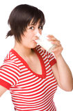 Woman with milk Stock Photography