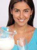 Woman milk. Royalty Free Stock Images