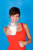 Woman milk Royalty Free Stock Image
