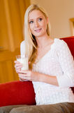 Woman With Milk Stock Image