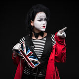 Woman mime Stock Images