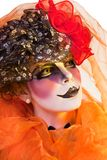 Woman mime with theatrical makeup Stock Images