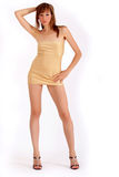 Woman in mini dress Royalty Free Stock Images