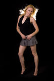 Woman in mini skirt royalty free stock images
