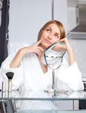 Woman with the mirror Royalty Free Stock Photo