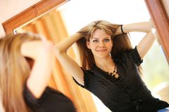 Woman mirror Royalty Free Stock Image