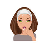 Woman mistaken. Vector Illustration Stock Image