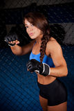 Woman MMA Fighter Royalty Free Stock Image