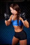Woman MMA Fighter Stock Photo
