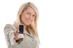 Woman with mobile Royalty Free Stock Photography