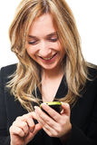 Woman with mobile Stock Image