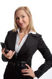 Woman mobile communications Stock Photo