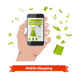 Woman mobile online shopping Royalty Free Stock Photos
