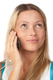 Woman with a mobile phone Stock Image