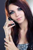 Woman with mobile phone Royalty Free Stock Photo