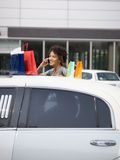 Woman on mobile phone Royalty Free Stock Photo