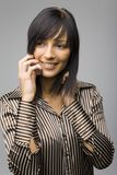 Woman With Mobile Phone royalty free stock image