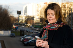 Woman with mobile phone Stock Photo