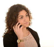 Woman on mobile phone. A woman on a mobile phone Stock Photo