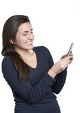Woman on mobile phone Royalty Free Stock Photos