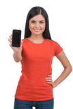 Woman with mobile phone. Stock Photography