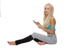 Woman with mobile phone Stock Photos