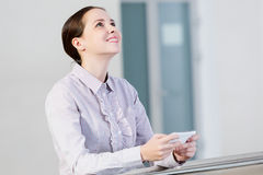 Woman with mobile phone Royalty Free Stock Images