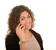 Woman on mobile phone Royalty Free Stock Image