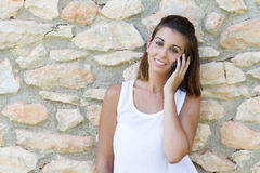 Woman and mobile Royalty Free Stock Photos
