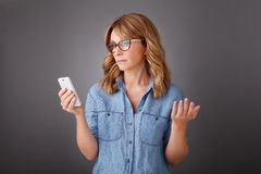Woman with mobile Stock Images