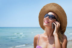 Woman with mobile Royalty Free Stock Photos