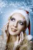Woman model. Christmas bright make-up Royalty Free Stock Images