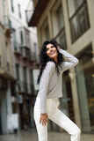 Woman, model of fashion, wearing casual clothes smiling Stock Image